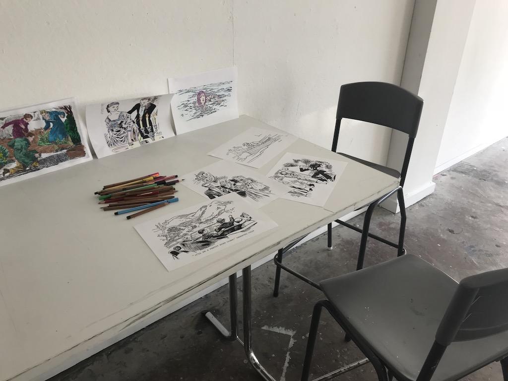 September Seminar table install, drawing seats